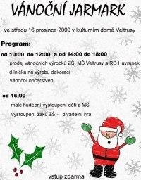 plakát na vánoční jarmark